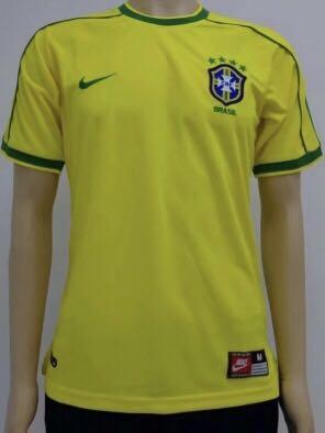 Brazil Retro Jersey Home 1998