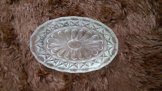 Oval glass bowl mangkuk gelas