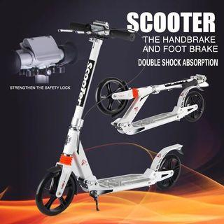 200M large PU wheel Foldable Adult Children Kick Scooter