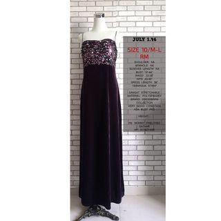 DRESSBARN PURPLE DRESS WITH SEQUIN