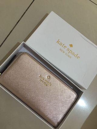 Kate Spade Wallet Authentic Quality Rose Gold