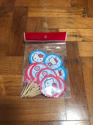 20pcs Hello Kitty cupcake toppers