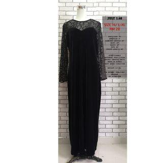 LONG SLEEVES BLACK DRESS