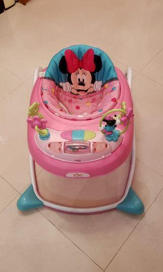Disney Baby Minnie Mouse Bows and Butterflies Walker  學行車