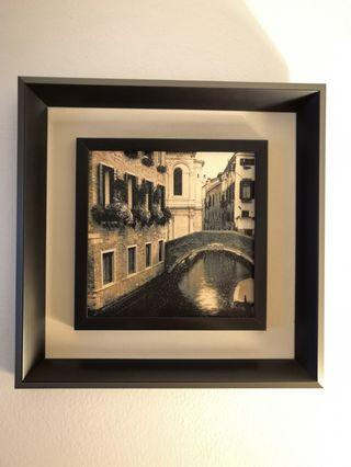 Canvas print picture frame