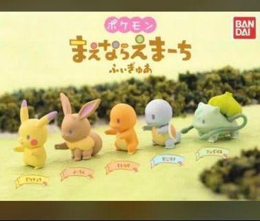 🈹再度入10套!$120@set!🈹 比卡超 排隊 系列 pokemon pikachu 小火龍 車厘龜 伊貝 奇異種子 比卡超 可愛 收藏 擺設 送禮 全新 扭蛋
