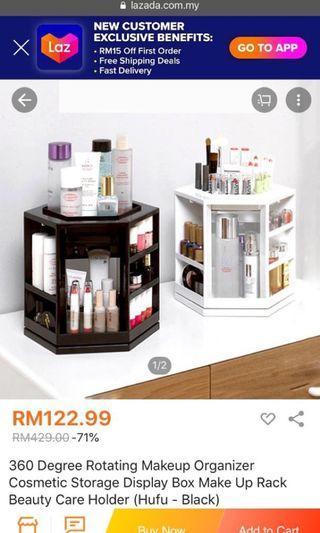 Makeup rotating organizer