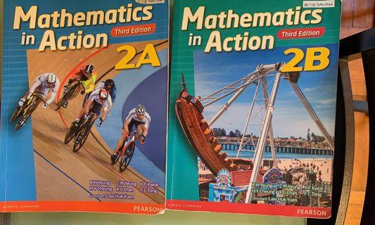 Pearson Mathematics in action book 2A, 2B (2016 3rd ed)