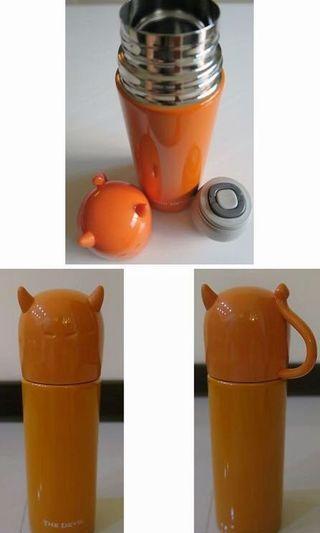 橘色)惡魔👿保溫瓶 保溫杯 水瓶 水杯 水壺