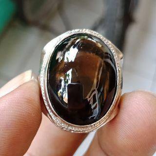 Natural Batu Cincin Kecubung Teh Top