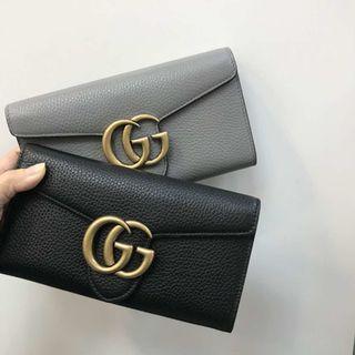 (現貨) 新款 Gucci leather long wallet 長銀包