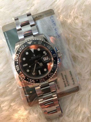 Very Mint Rolex GMT MASTER II 116710LN