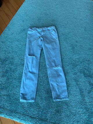 Calvin Klein Distressed Stretch Jeans