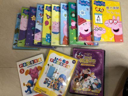 Peppa pig dvd 和 圖書17 本