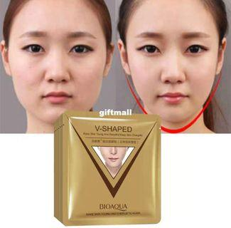 Firming Lift Skin Face Mask Chin V Shaped Collagen Sheet face Mask Anti Wrinkle Anti Aging Reduce Fine Lines