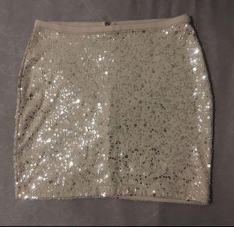 H&M Sequins Beaded Skirt