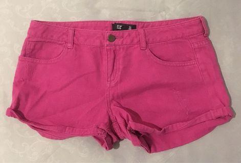Forever21 Pink Denim Shorts