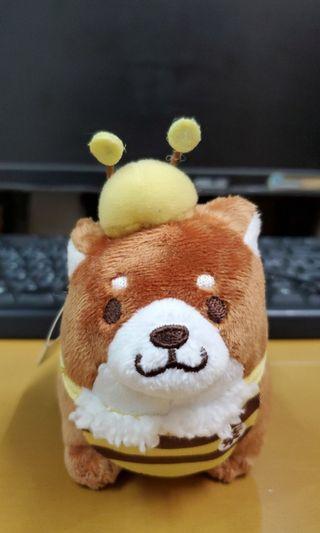 小蜜蜂柴犬公仔