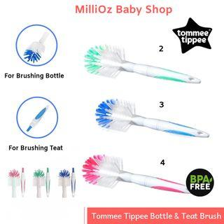 💯ORIGINAL Tommee Tippee Bottle & Teat BRUSH (Green, Blue Or Pink) x 1 pc