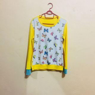 Long Sleeve Sweatshirt Yellow