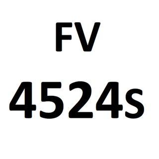 Motorcycle plate number FV 4524 S