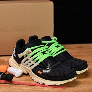 "Off White x Nike Air Presto""Black Muslin""1.0壹代耐克王休閑運動百搭慢跑鞋""OW黑白米黃""AA3830-001"
