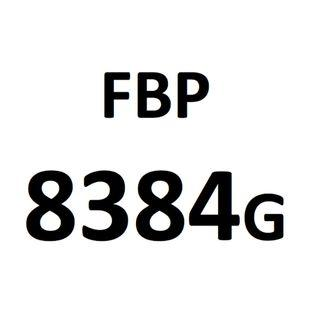 Motorcycle plate number FBP 8384 G