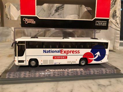 絕版全新 英國倫敦London Airport National Express Bus 巴士模型