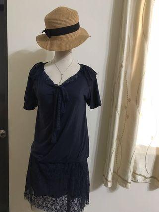 韓系 俏麗層次棉質洋裝