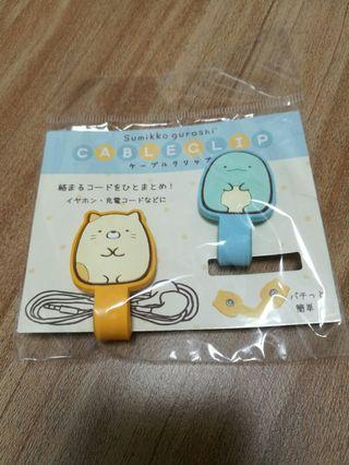 角落生物Sumikko gurashi耳機收納 充電線收納 扣帶Cable Clip