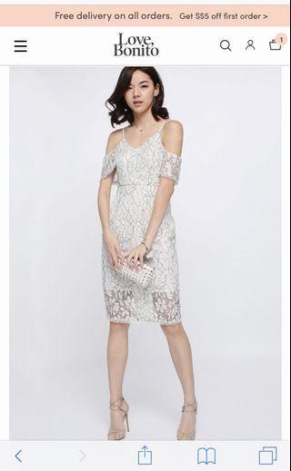 Marish Lace Off Shoulder Dress