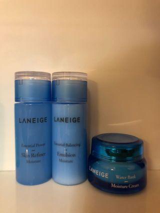 Laneige toner 50ml + emulsion 50ml + gel cream 20ml