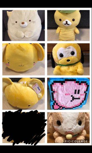 [ALL FOR $40] Soft Toys Clearance Toreba