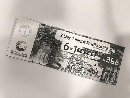 2D1N Gold Coast Morib Resort Studio Suite (With Jacuzzi) 6 in 1 package