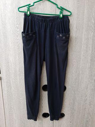 🚚 清衣櫃🍟a la sha阿財口袋棉質長褲