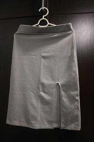 Skinny Grey Skirt