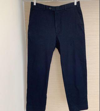 Lezona Santorelli Men's Navy Blue Smart Casual Trousers