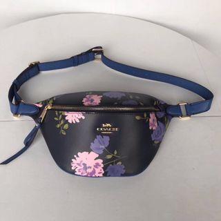 COACH 75702 新款花朵印花女士腰包 胸包 多功能斜挎包