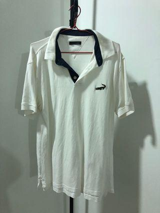 Crocodile Collar Shirt ~ White Colour