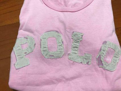 🚚 Polo 破壞感粉色上衣