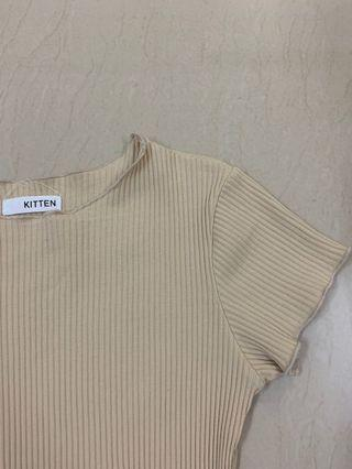 scallop ribbed top