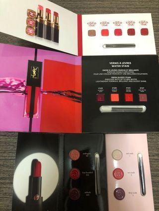 Chanel YSL Giorgio Armani lipstick
