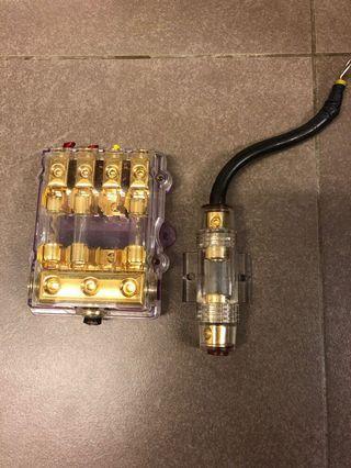 Car ICE audio entertainment fuse box