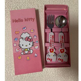 Hello kitty print metal spoon fork kid toddler baby gift goodie bag