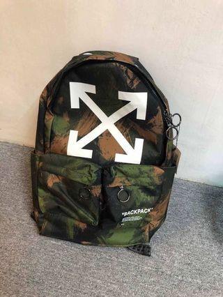(現貨) Off white backpack 迷彩背囊背包 49x30cm