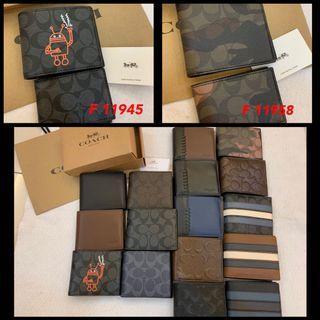 (15/07/19)Ready Stock Authentic coach men backpack wallet purse traveller bag clutch belt bag backpack listing wallet card holder