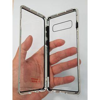 Samsung Galaxy S10 Double Sided Glass Magnetic Casing White