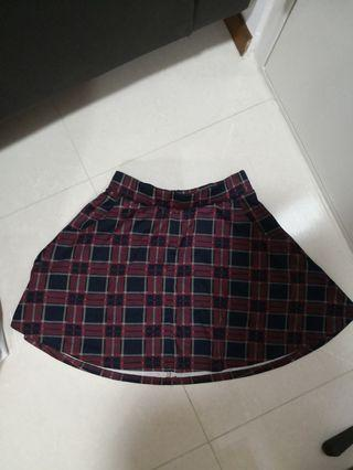 (2 for $8) Cotton On plaid skirt