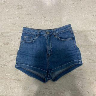 Pull & bear denim high waist shorts