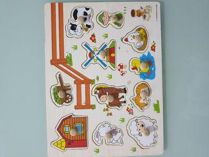 Baby Toys Puzzles Hand Grab Board Set